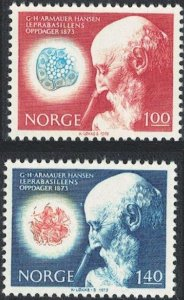 Norway 1973 #602-3 MNH. Science