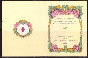 FRANCE Scott B392a MNH** 1965 Red Cross Semi Postal Renoir booklet