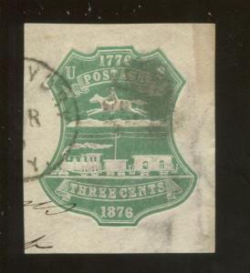 1876 United States of America Plimpton Co. 3c Postage Stamp #U219 CV $17.5