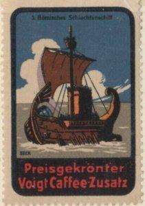 Germany History of Ships #3 Roman Battleship NG Artist F. Seck