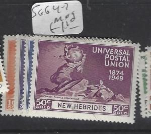 NEW HEBRIDES     (P2611B)  UPU   SG 64-7   MOG