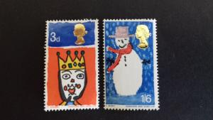 Great Britain 1966 Christmas Stamps MLH