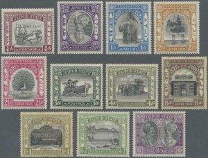 MOMEN: INDIA JAIPUR SG #40-46,48-51 1931 MINT OG H £675 LOT #62259