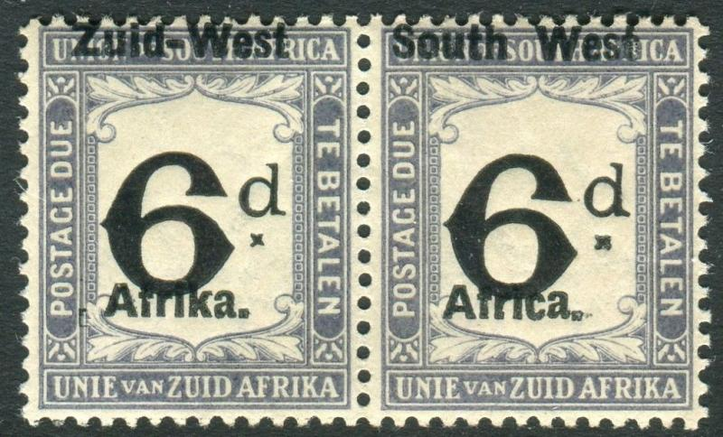 SOUTH WEST AFRICA-1923 6d Black & Slate POSTAGE DUE lightly mounted mint Sg D5
