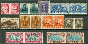 EDW1949SELL : SOUTH WEST AFRICA 1938-43 Scott #133-43 VF Mint OGH Catalog $96.00