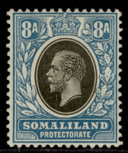 SOMALILAND PROTECTORATE GV SG80, 8a grey-black & pale blue, M MINT.