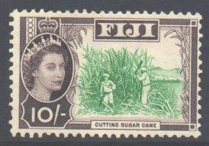 Fiji Scott 174 - SG309, 1959 Elizabeth II 10/- MH*