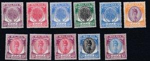 KEDAH    1950 - 55  S G 82 - 88  10C VALUES TO $1  MH  CAT £63