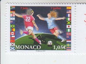 2019 Monaco Women's Football (Soccer)   (Scott 2974) MNH