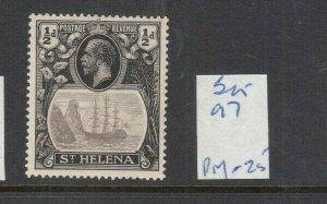 ST HELENA 1922 1/2D GREY/BLACK MINT SG97