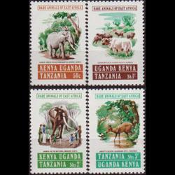K.U.T. 1975 - Scott# 312-5 Animals Set of 4 NH