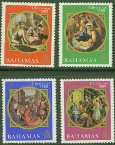 BAHAMAS Scott 309-312 Christmas set MNH** 1970 CV$1.50
