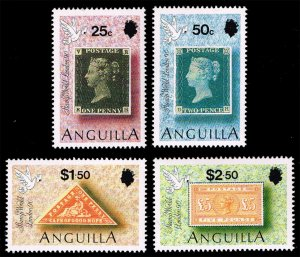 Anguilla #816-819 Stamp World London Set of 4; MNH (4Stars)