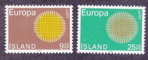 Iceland 420-21 MNH 1970 EUROPA Set Very Fine
