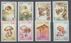 Algeria Sc 872/911 MNH. 1986-89 WWF & Mushrooms, cplt