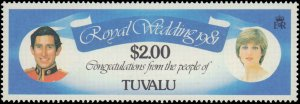 Tuvalu #157-162, Complete Set(6), 1981, Royalty, Never Hinged