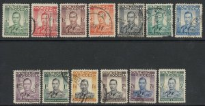 Southern Rhodesia, Sc 42-54 (SG 40-52), used, small faults