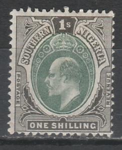 SOUTHERN NIGERIA 1903 KEVII 1/- WMK CROWN CA