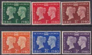 Great Britain #252-7  MNH CV $5.80 (Z7896)