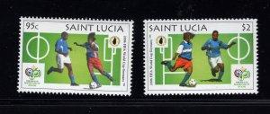 St. Lucia  #1232-33 (2006 World Cup set) VFMNH CV $2.25