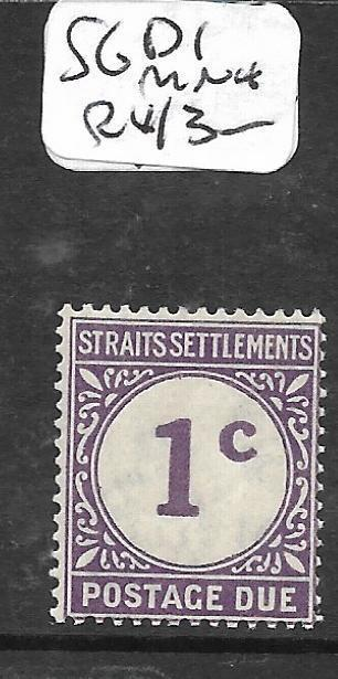 MALAYA STRAITS SETTLEMENTS  (P0105BB) POSTAGE DUE 1C  SG D1  MNH