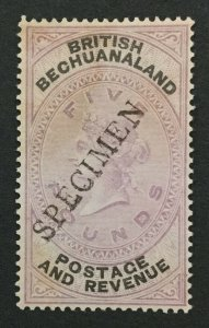 MOMEN: BECHUANALAND SG #21s SPECIMEN 1888 UNUSED LOT #191839-287