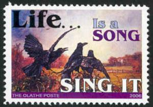 Topical Stamp: Crows - Life Is A Song - Cinderella - MNH