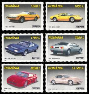 Romania MNH 4336-41 Ferrari Automobiles SCV 6.25