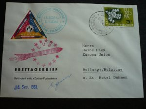 Europa 1961 - Belgium - Rocket Mail (Signed)
