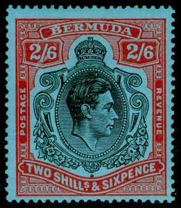 BERMUDA SG117b, 2s 6d Black & Red/Pale Blue, LH MINT. Cat £22.