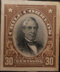 J) 1910 CHILE, JOSE JOAQUIN PEREZ, AMERICAN BANK NOTE, DIE PROOF, IMPERFORATED