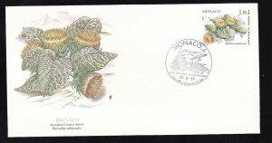 Flora & Fauna of the World #125b-Flower FDC-Stemless Cotton Thistle-Monaco-singl