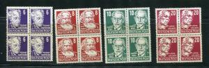 Germany 1948 Mi 213-5,219 MH/MNH Block of 4 5966