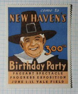 New Havens Birthday Party Pilgrim Art Company Brand Ad Poster Stamp