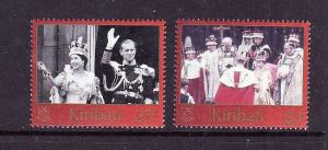 Kiribati-Sc#825-6-Unused NH set-QEII-50th Coronation-2003--please note there is