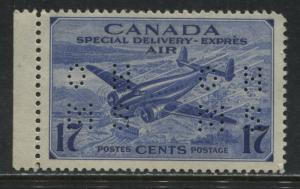 Canada 1947 17 cents Airmail Special Delivery OHMS perforated Official mint NH