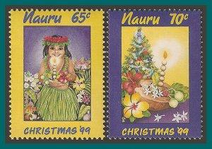 Nauru 1999 Christmas, MNH #472-473,SG504-SG505