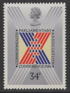 GB SG1335 1986 COMMONWEALTH PARLIAMENTARY CONFERENCE MNH