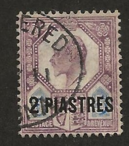 GREAT BRITAIN OFFICES - TURKISH EMPIRE SC# 14  F/U 1906