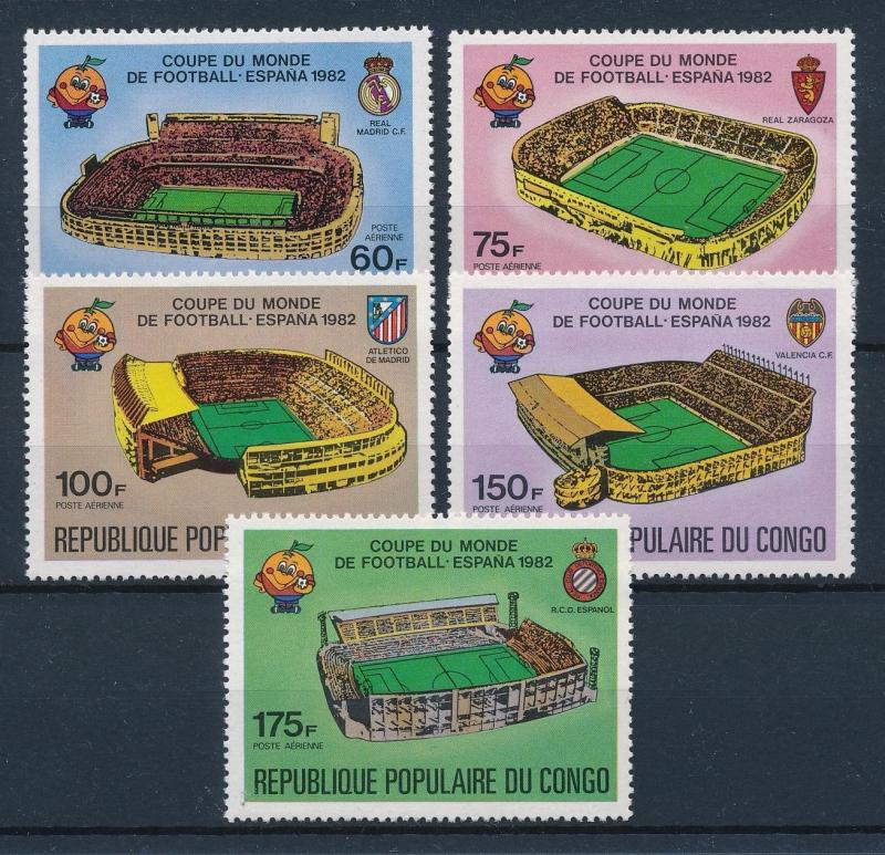 [43624] Congo Brazzaville 1980 Sports World Cup Soccer Football Spain MNH