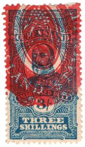 (I.B) Australia - Queensland Revenue : Impressed Duty 2/- (1901)