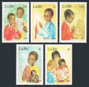 Zaire MNH 1037-41 Christmas 1981 SCV 6.25