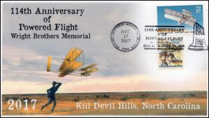 17-422, 2017, Wright Brothers, Kill Devil Hills NC, Pictorial, Event cover, flig