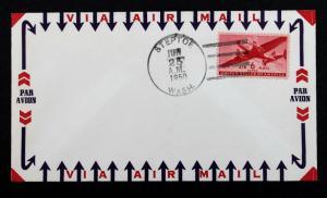 US Stamp Sc# C25 Protest or Honor Cover STEPTOE-WASH June 25, 1950 Korean War