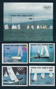 Comores Isl - Los Angeles Olympic Games MNH Sports Set Sailing (1984)