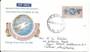 NZFD790  New zealand international  telecomunication  cover   1964   FDC $4.00