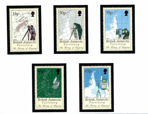 Brit Ant Terr 253-57 MNH 1998 History of Mapping