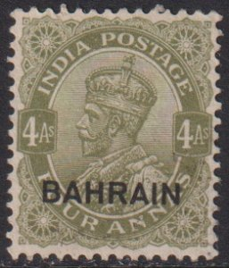 1934 Bahrain KGV King George V 4 Annas issue MMH Sc# 17 CV $9.75