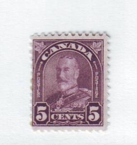 Canada Sc169 1930 5c violet G V arch stamp mint
