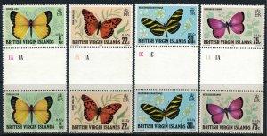 Virgin Islands #342-5* NH Gutter pairs  CV $14.40+  Butterflies
